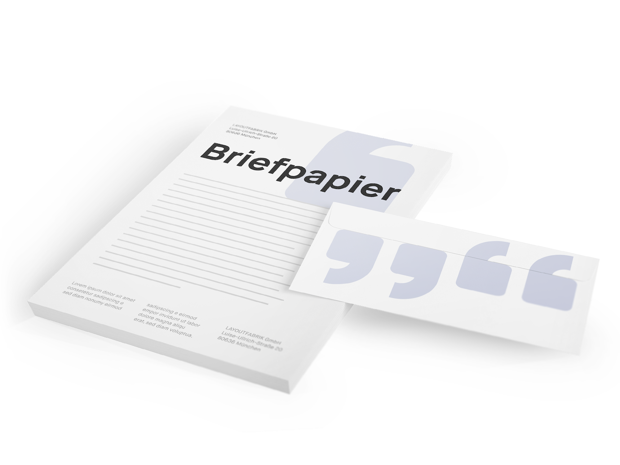 Briefpapier Layoutfabrik